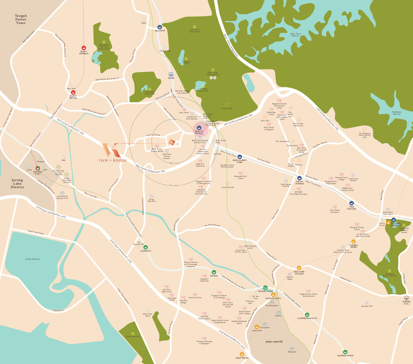 View @ Kismis Location Map . Neighbouring Features & Amenities
