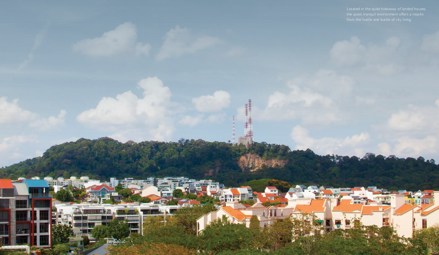 View @ Kismis Location . View @ Kismis Location . The Site is Set Against Backdrop of Bukit Timah Hill