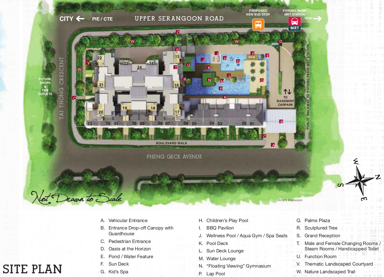 Sant Ritz Site Plan Layout