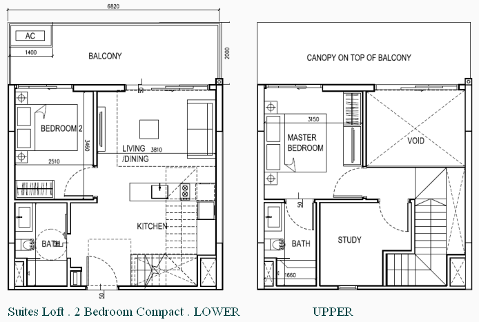 eCO Condo Floor Plan Suites Loft 2BR