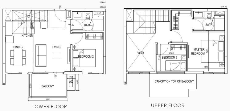 eCO Condo Floor Plan Suites Loft 3BR