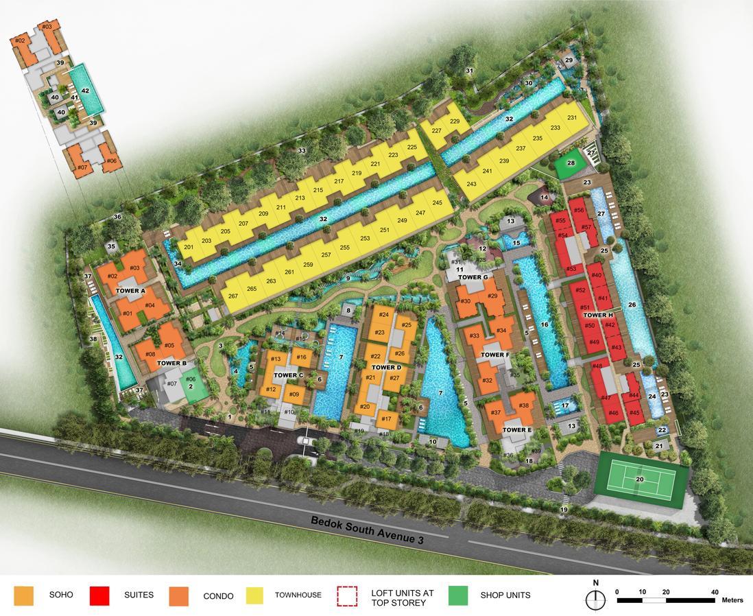 eCO Condo Site Plan Layout