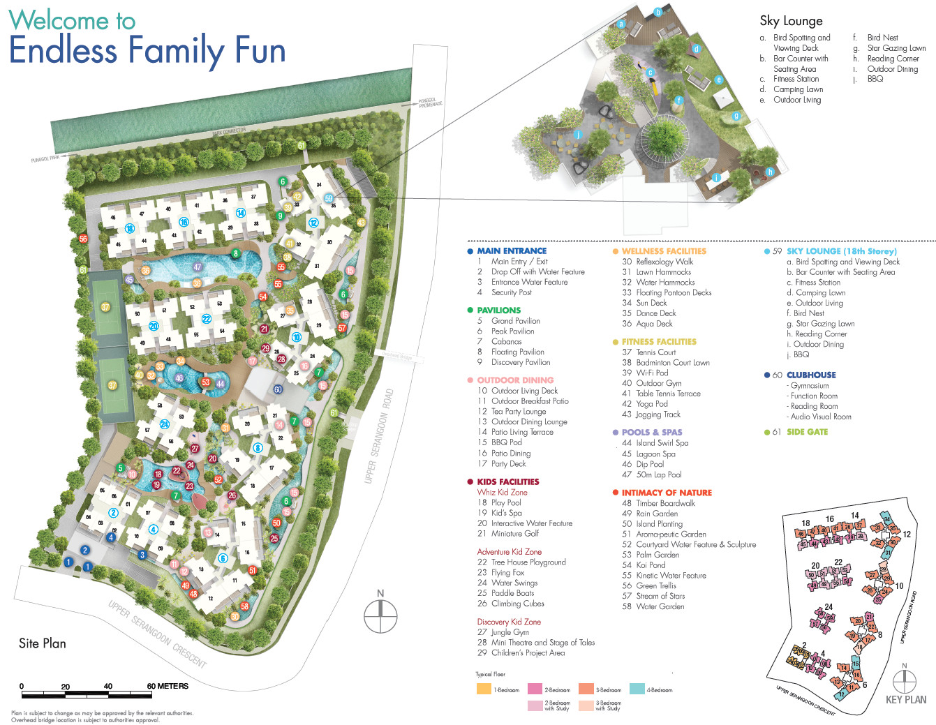Riversails Site Plan Layout with Legend