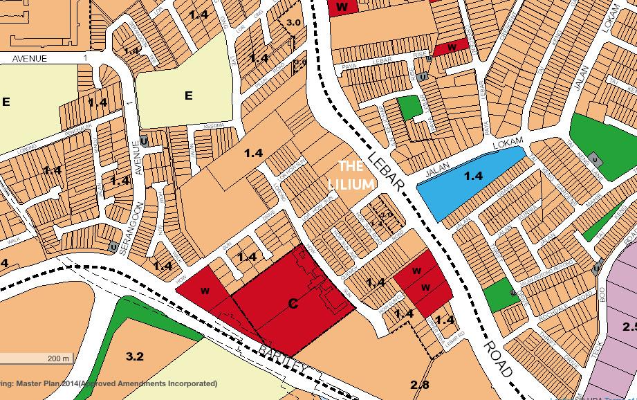 The Lilium Location Map . Source URA Master Plan