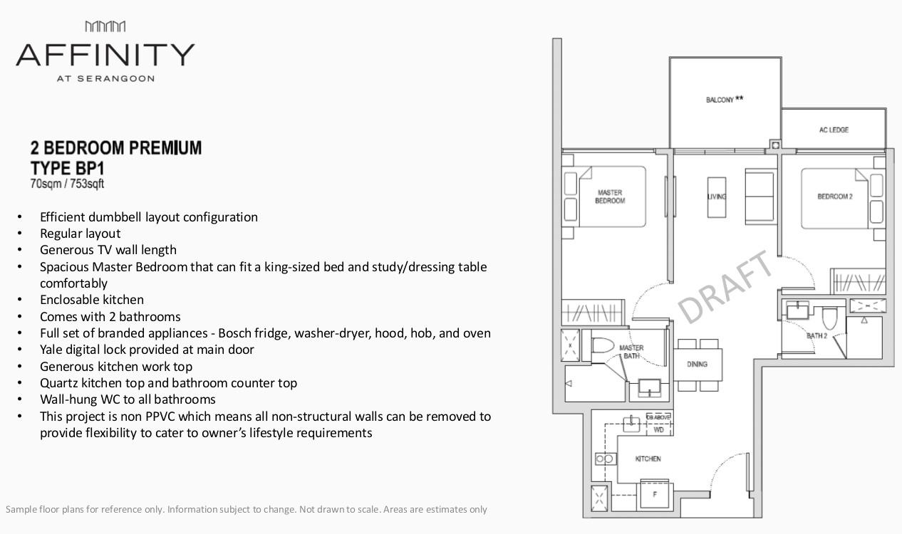 Affinity Condo Serangoon Floor Plan Type BP1 2BR Premium