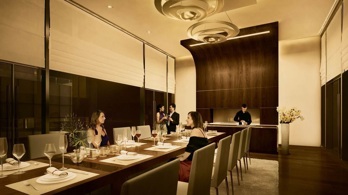 Marina One Condominium . Private Dining Room
