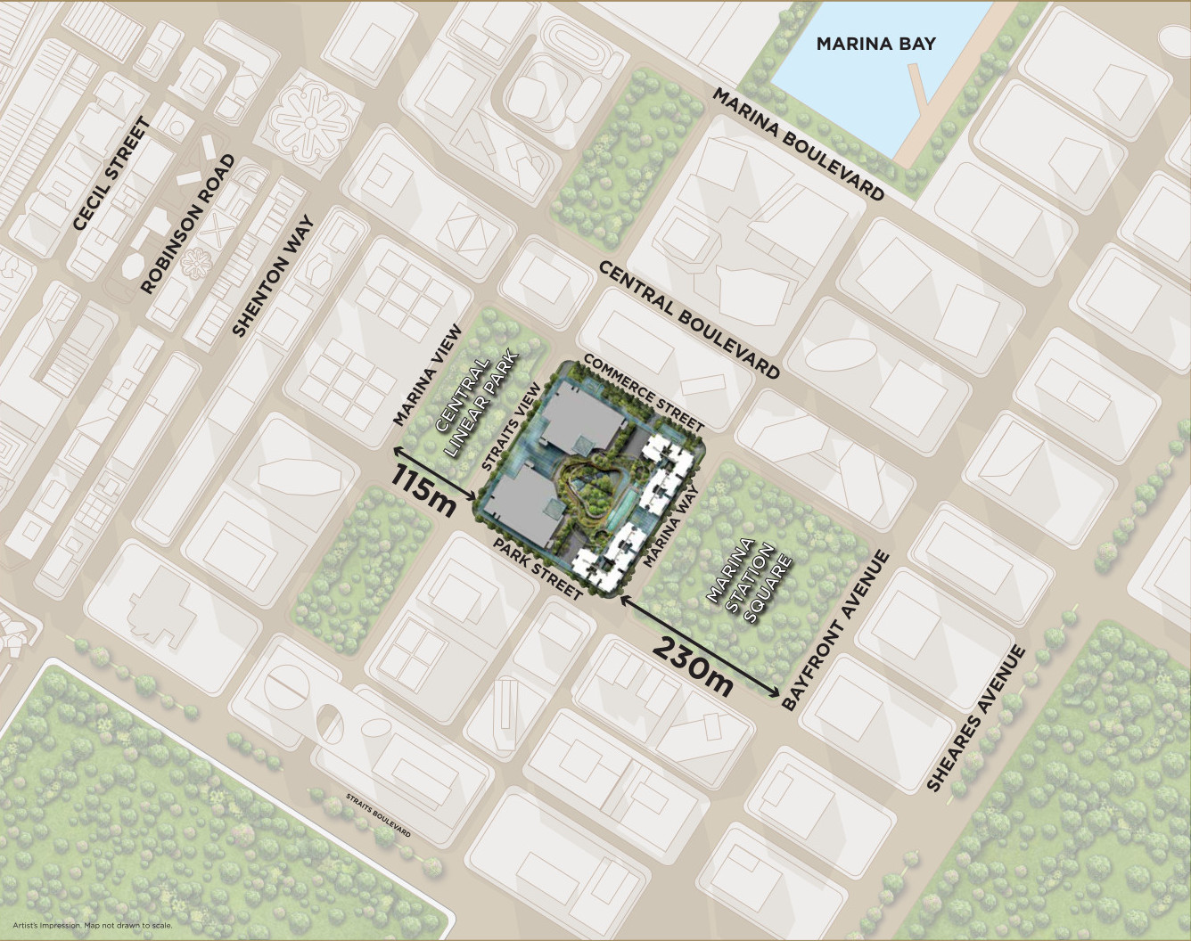 Marina One Residences Location . 2 Parks