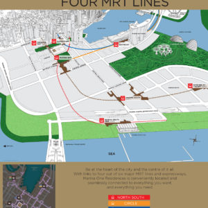 Marina One Location . 4 MRT Lines & Stations