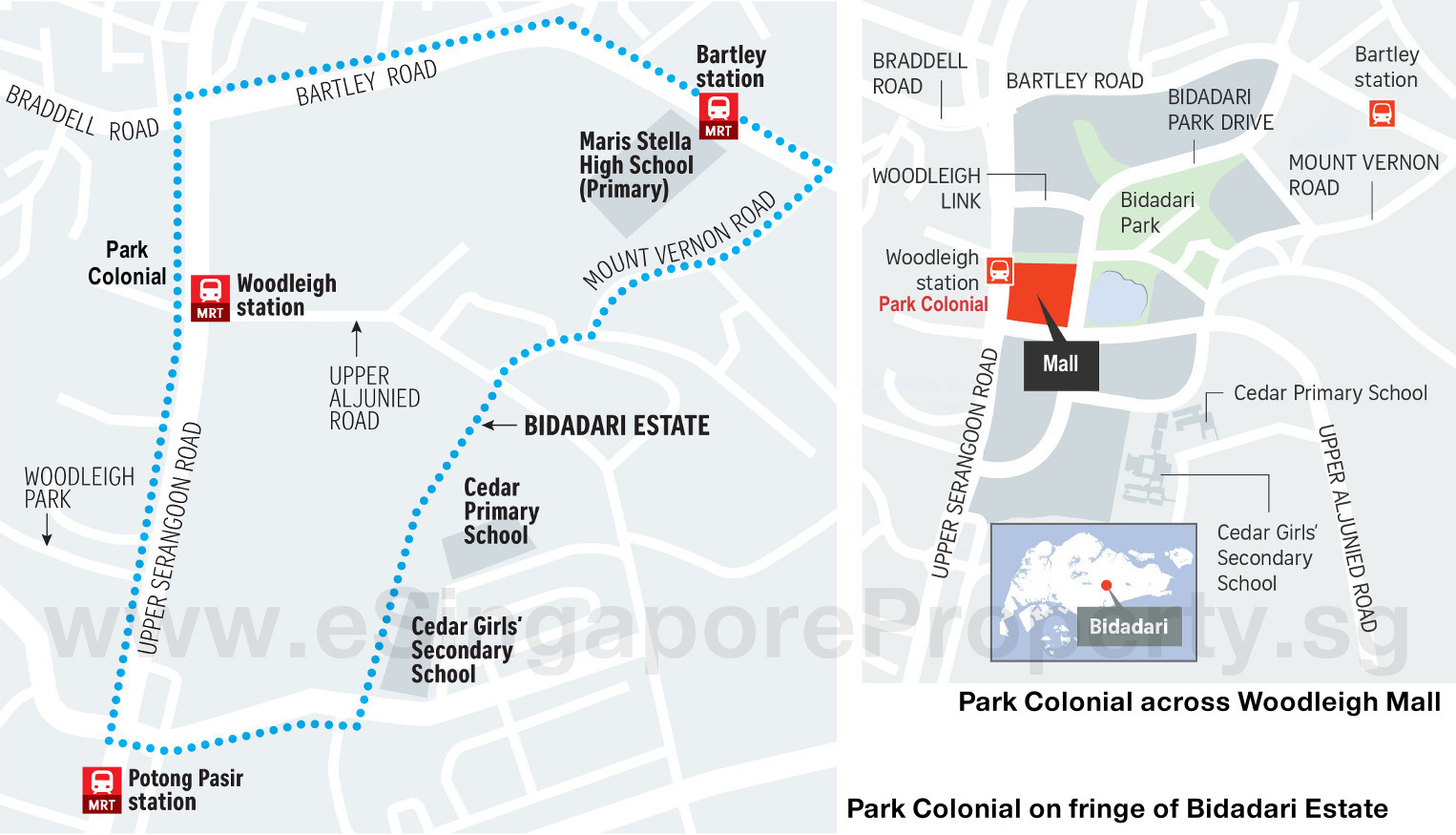 Park Colonial Condo Location Plan Bidadari Estate
