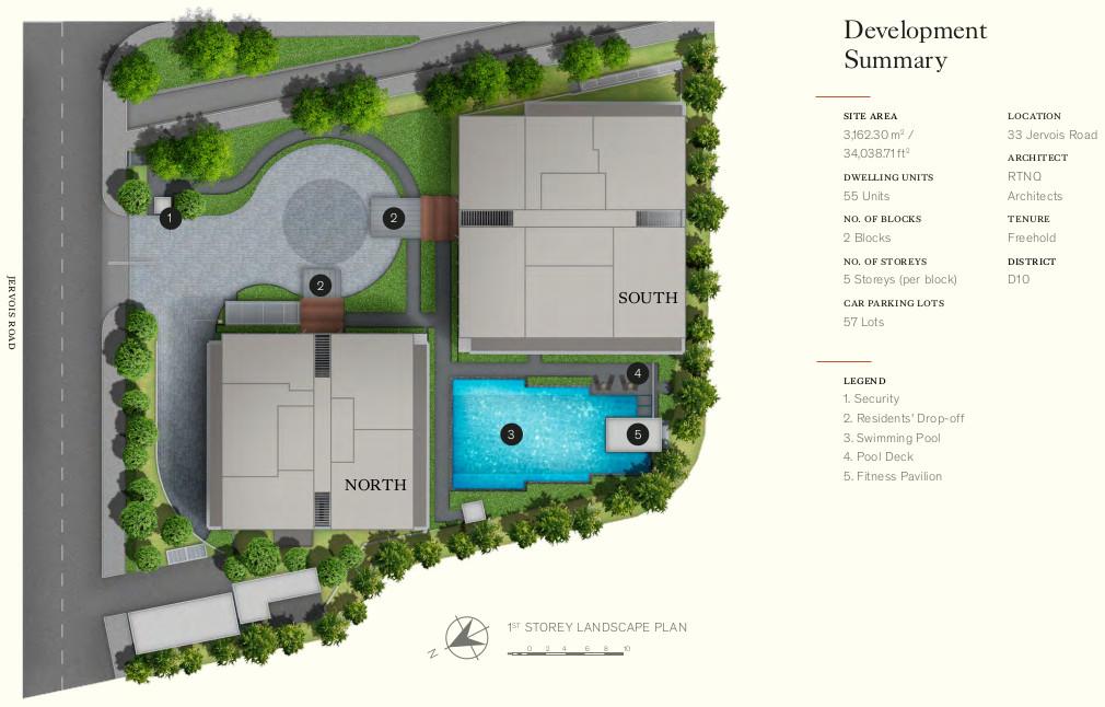 Petit Jervois Site Plan