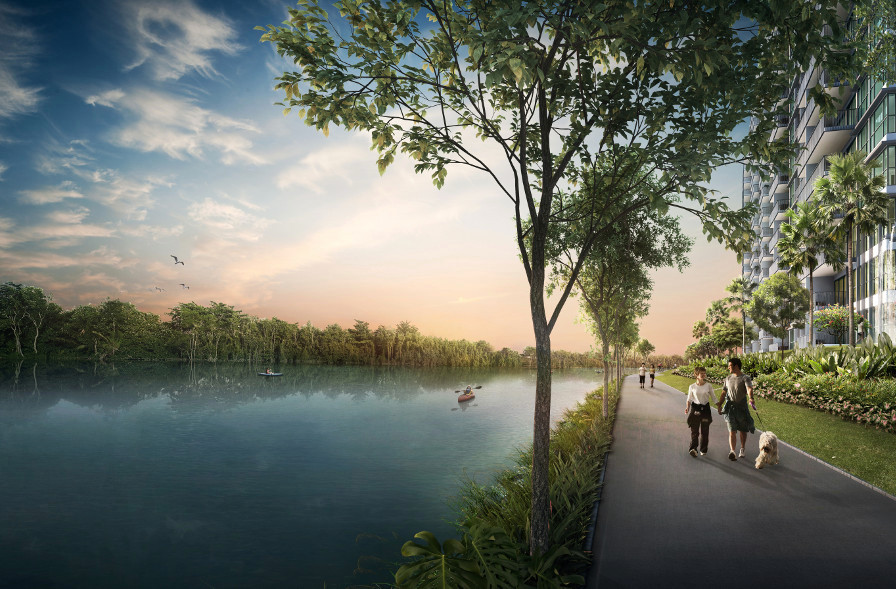 Artist's Impression . Waterbay by Kingsford . Developer for One Normanton Singapore