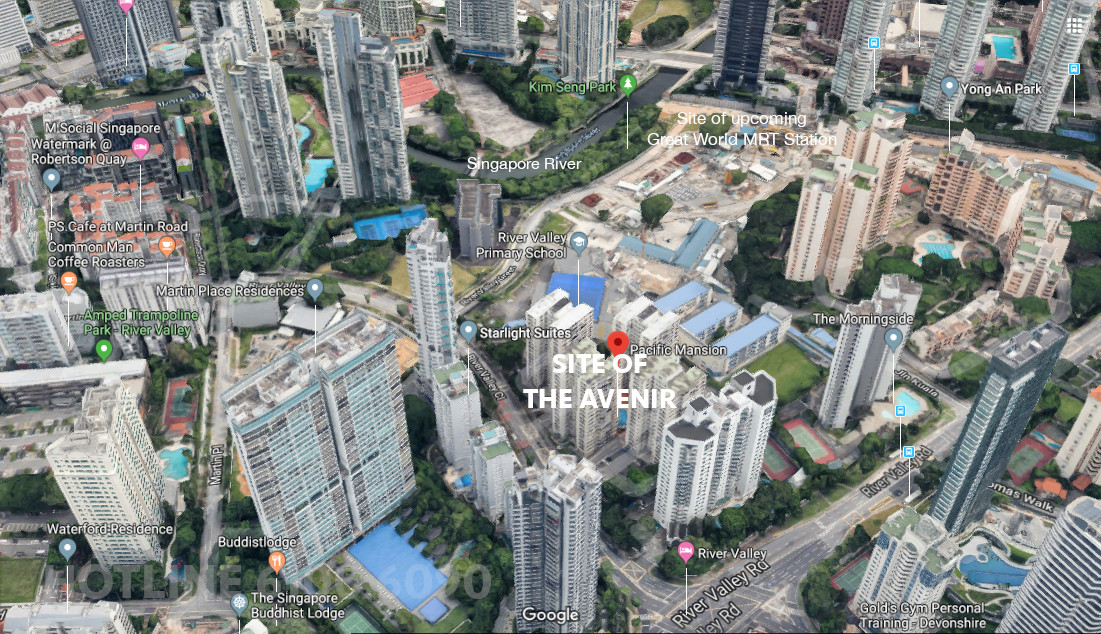 The Avenir Condo . Location Site