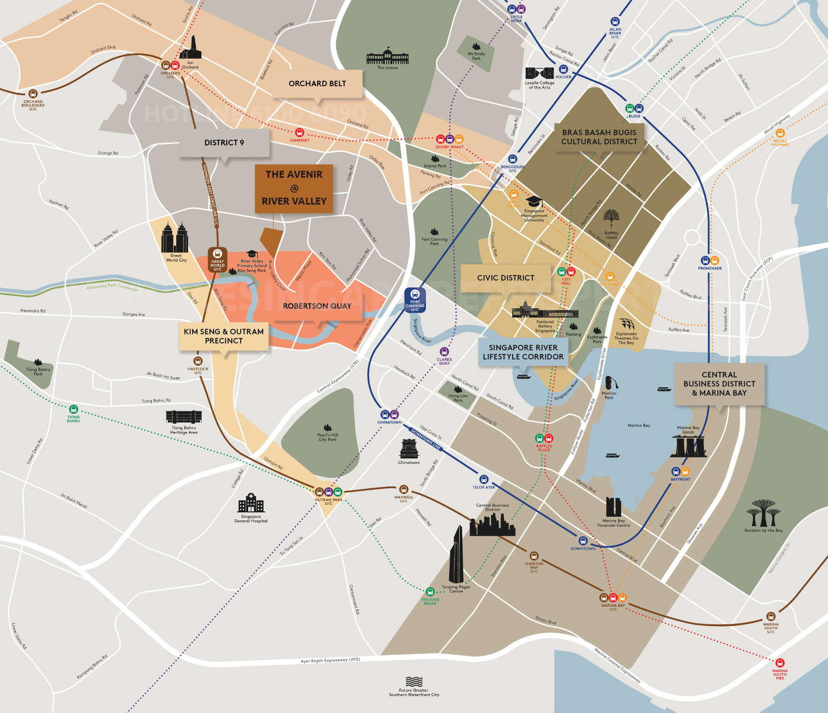 The Avenir River Valley . Location Map Amenities