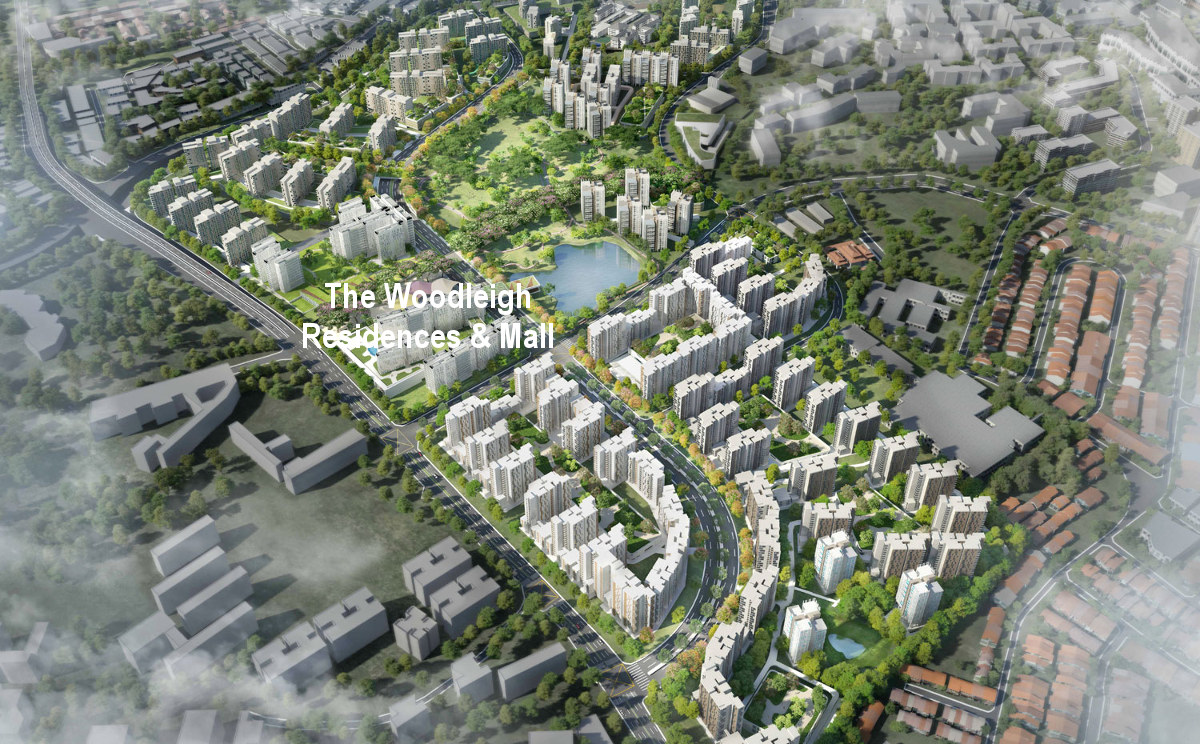 The Woodleigh Residences Singapore . Woodleigh Condo & Mall @ Bidadari Estate