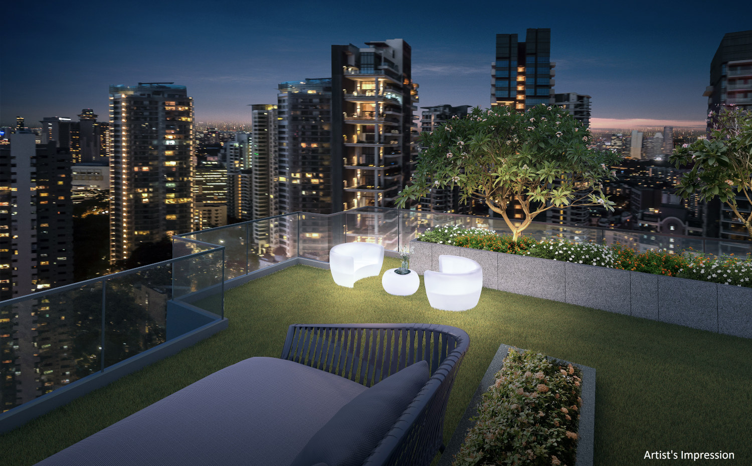 Artist's Impression . RV Altitude Singapore City Gazer Patio