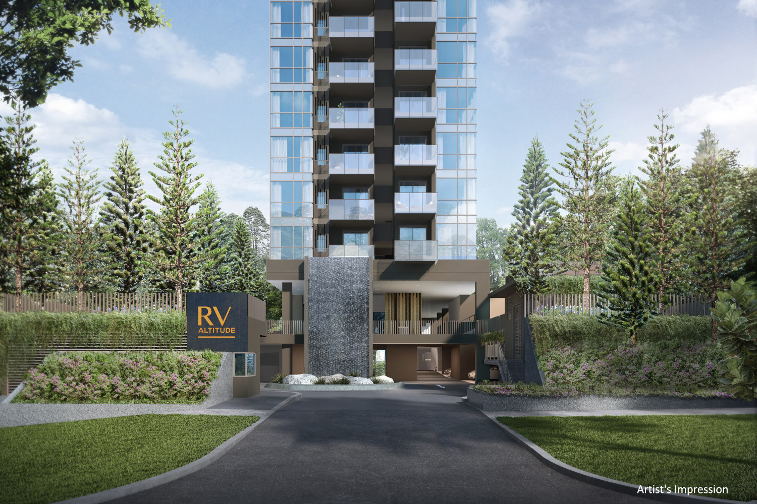 Artist's Impression . RV Altitude Singapore Main Entrance