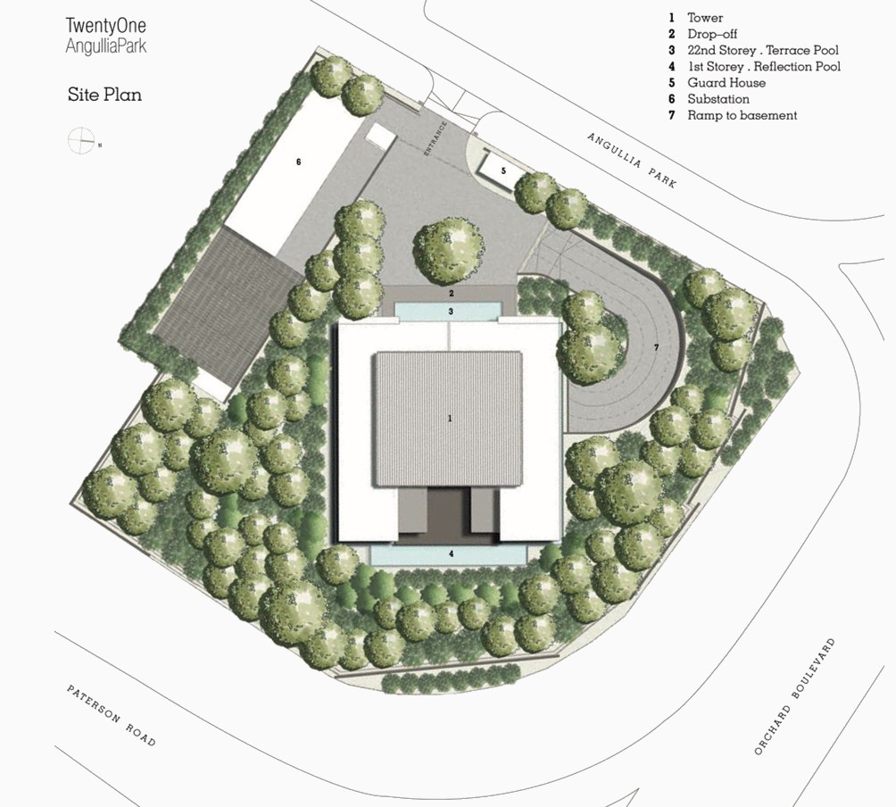 Twenty One Angullia Park Site Plan
