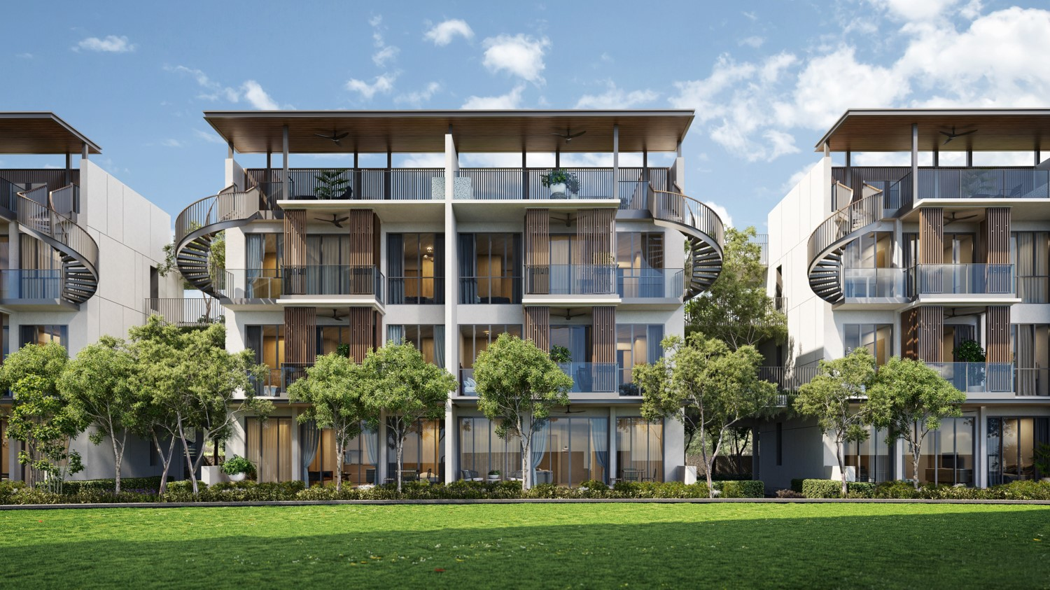 1 Holland Village Residences . 3-Storey High Leven Block