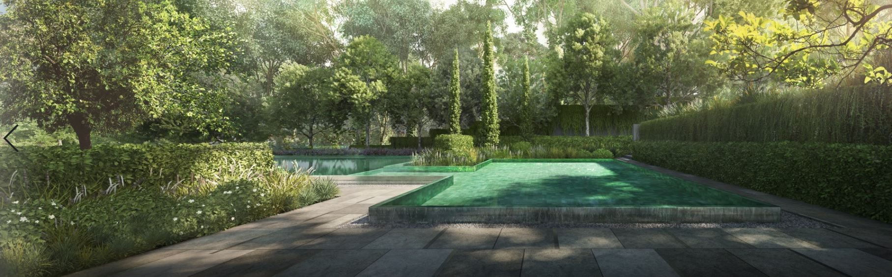 Artist's Impression . Extensive Gardens Inspired by the English Countryside