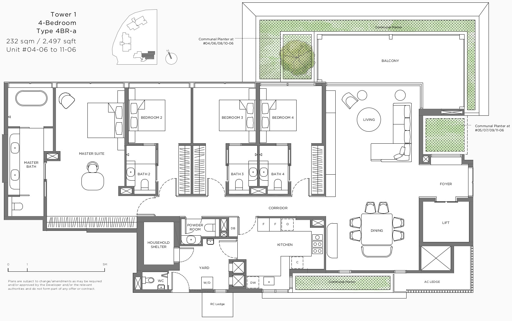 15 Holland Hill Floor Plan . 4 Bedroom Type 4BR-A