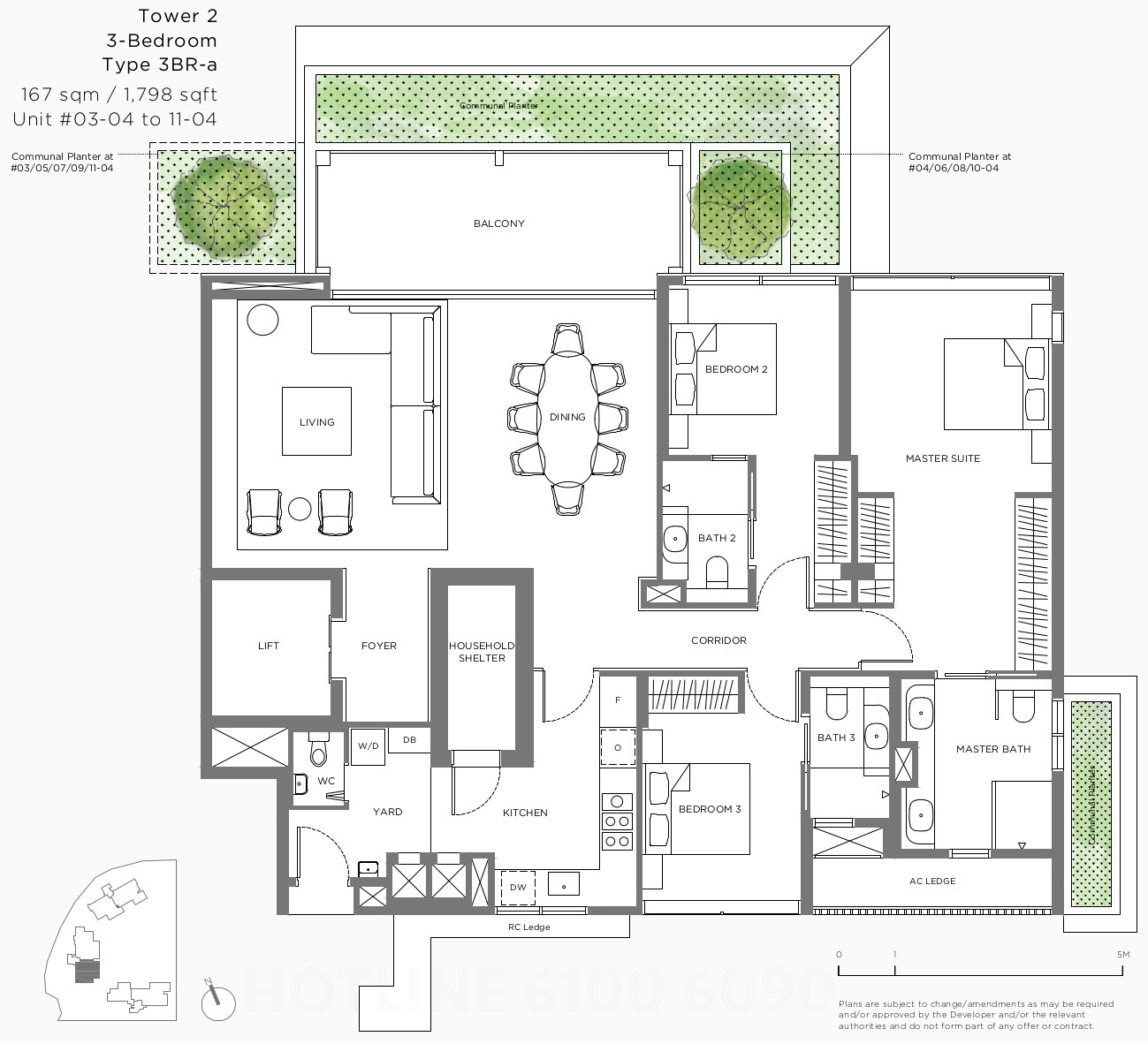 15 Holland Hill Floor Plans . 3 Bedroom Type 3BR-A
