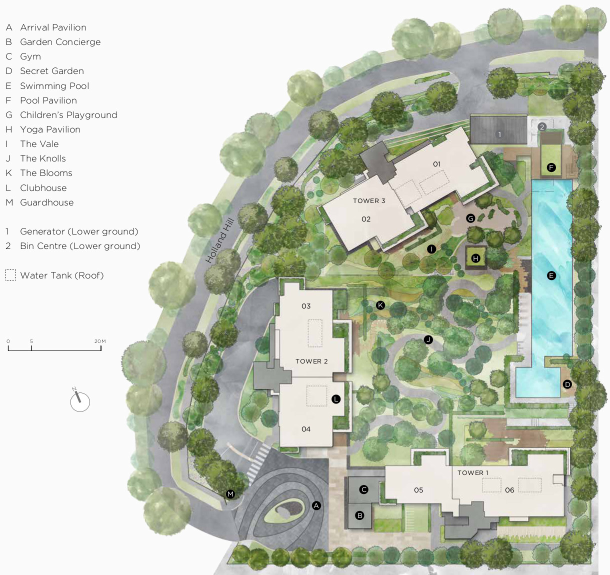 15 Holland Hill Site Plan Layout