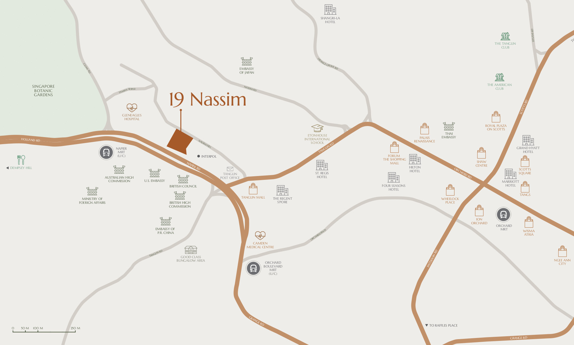 19 Nassim Location Amenities Map