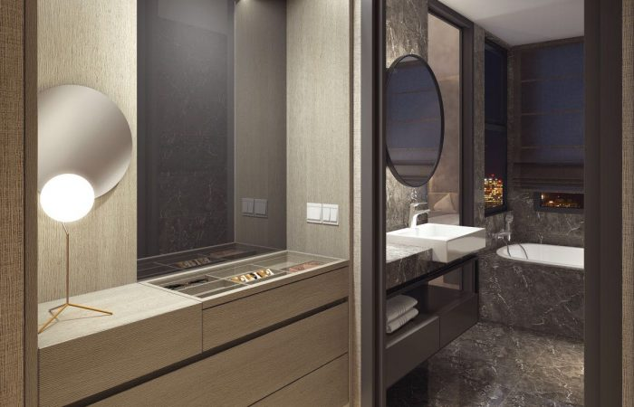 Amber 45 Condo Showflat . Artist's Impression Bathroom