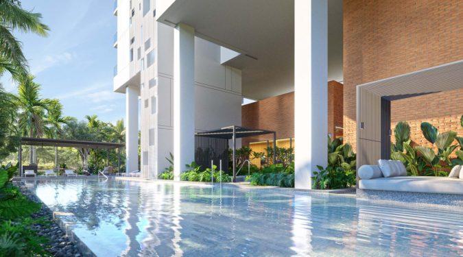 Amber Sea Condominium . Lap Pool