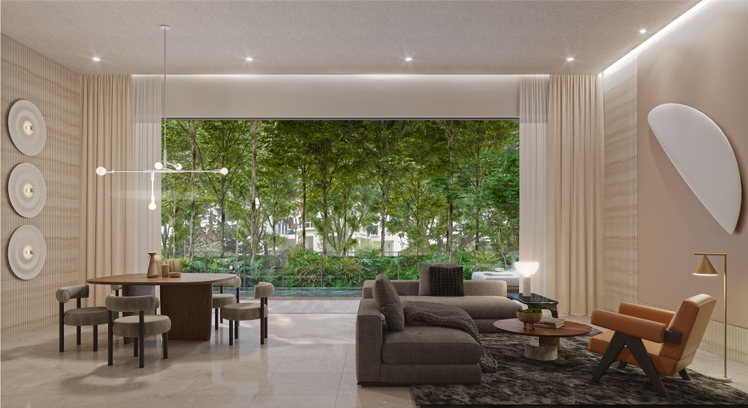 Amber Sea Showflat . Duplex Living Room