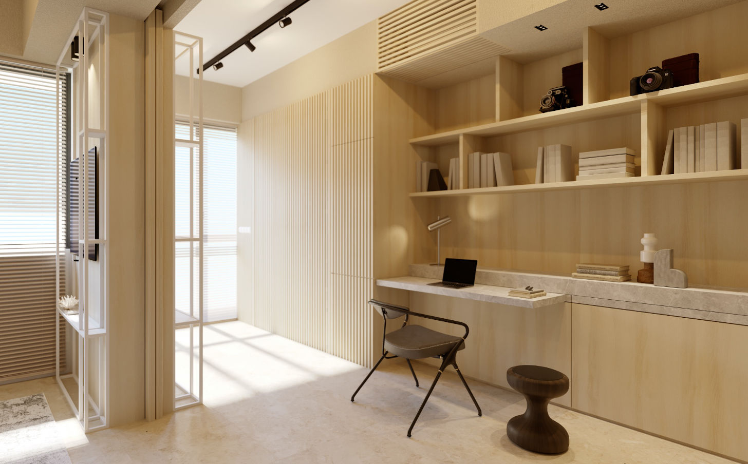 Amber Sea Showflat . One Bedroom Office by Day