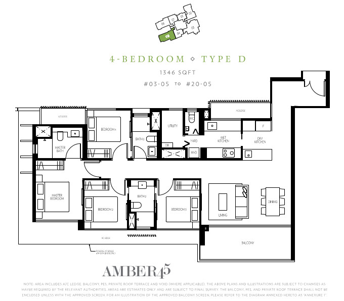Amber45 condo marine parade welcome to amber 45 for Four bedroom maisonette plans