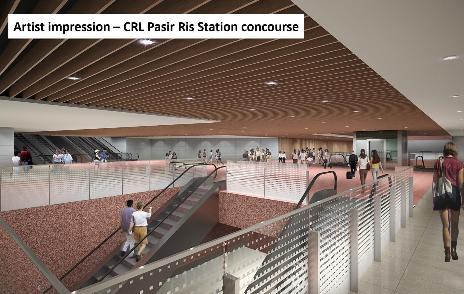 Artist's Impression . CRL Pasir Ris Station Concourse