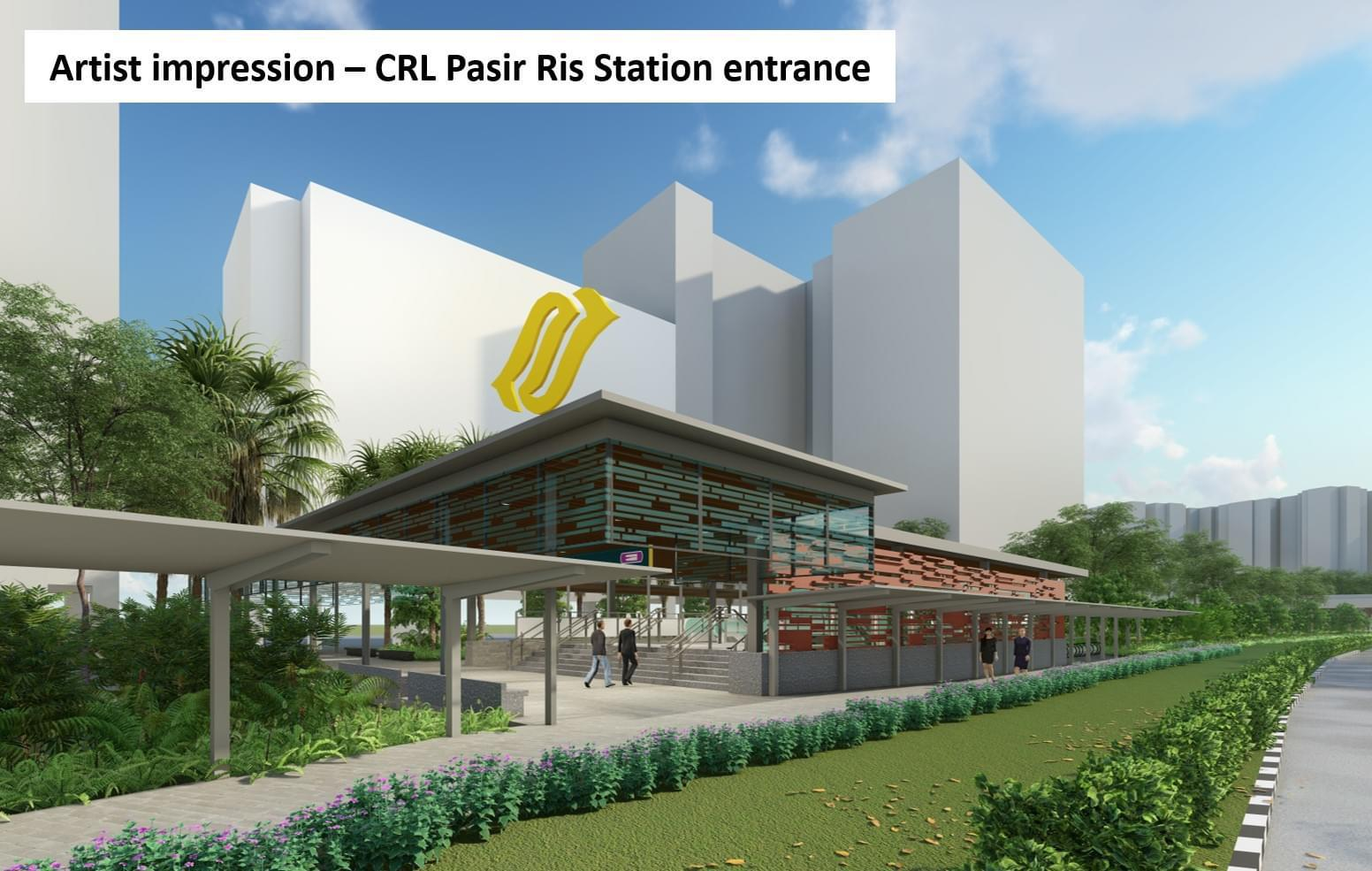 Artist's Impression . CRL Pasir Ris Station Entrance