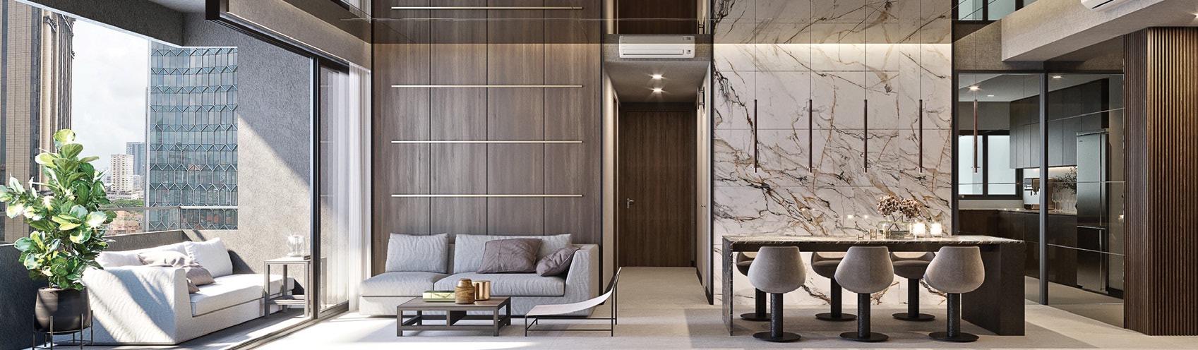 Artist's Impression of Midtown Modern Showflat . By GuocoLand
