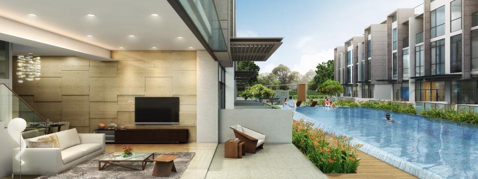Artist's Impression . Belgravia Villas Pool View