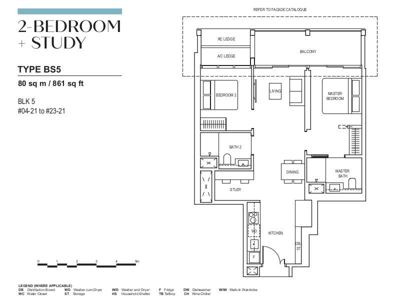 Canninghill Floor Plan . 2 Bedroom Study Type BS5