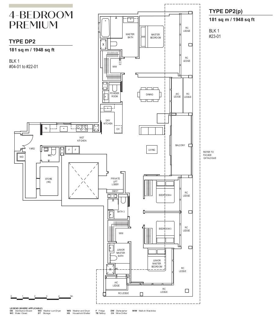 Canninghill Condo Floor Plan . 4 Bedroom Premium Type DP2