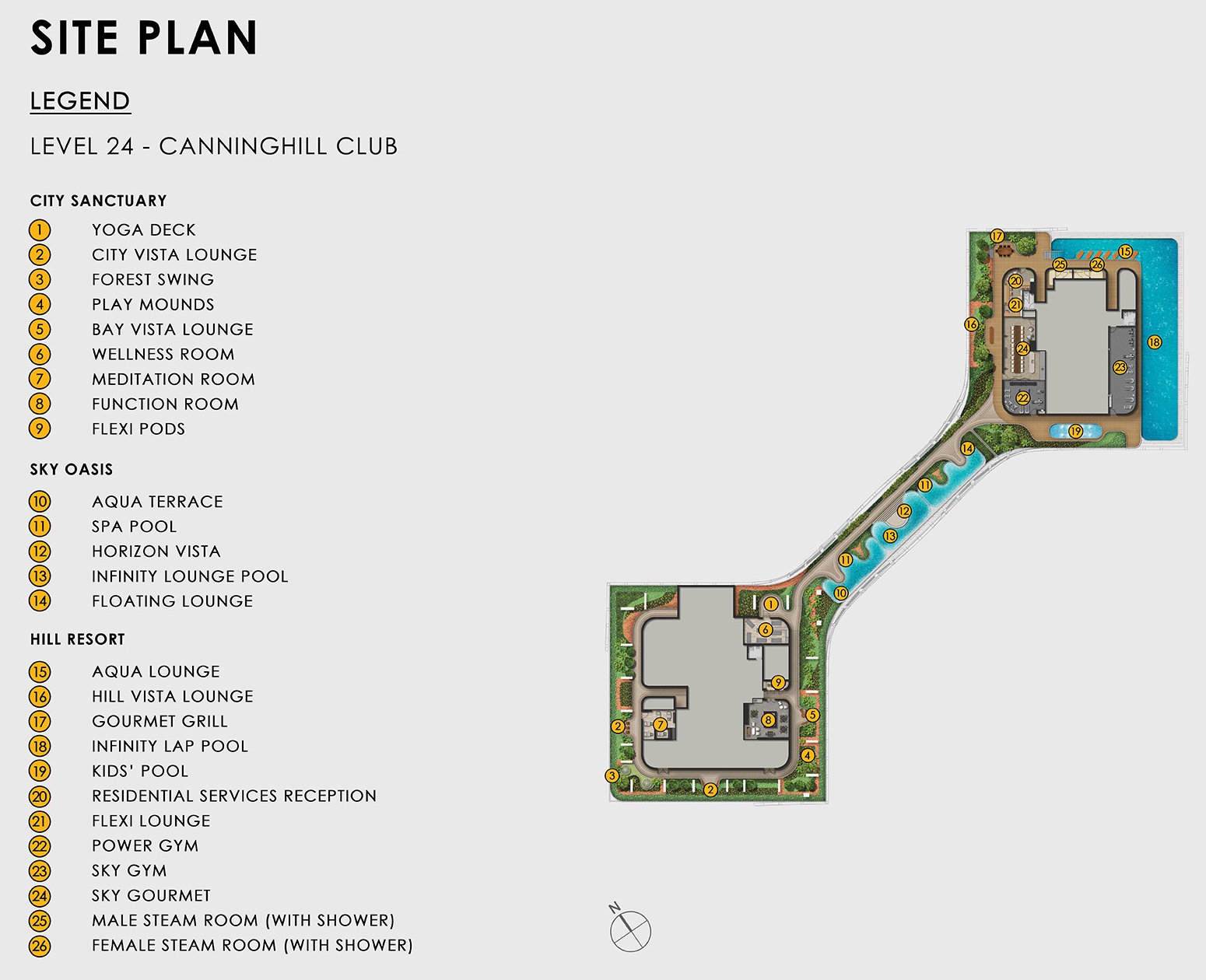 Canninghill Piers Site Plan . Level 24