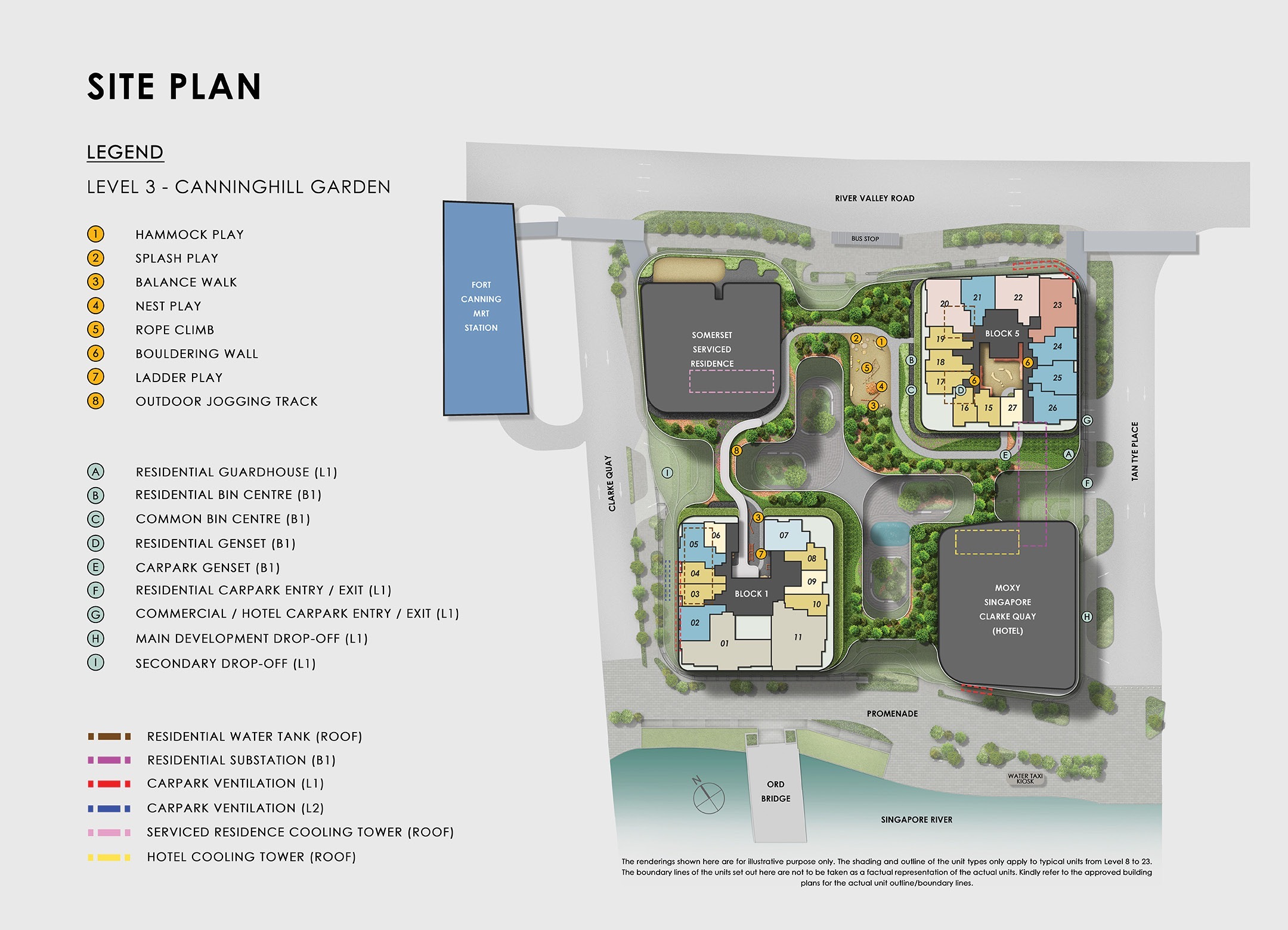 The Canninghill Piers Site Plan . Level 3