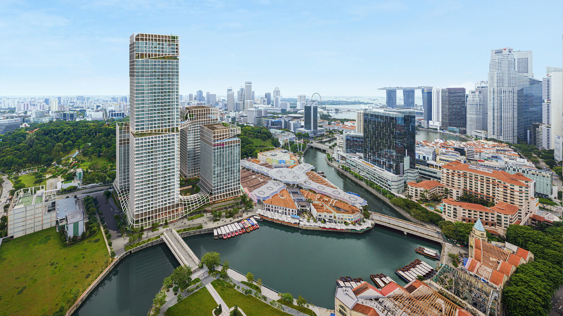 Artist's Impression . Canninghill Piers along Singapore River