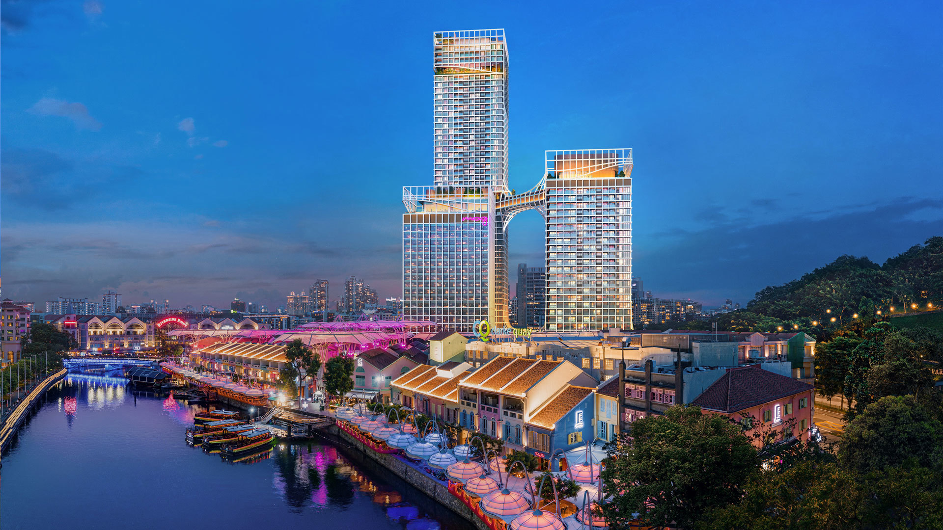 Artist's Impression . New Canninghill Piers and Canninghill Square at Clarke Quay