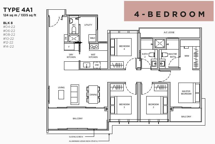 Floor Plan . 4BR Type 4A1
