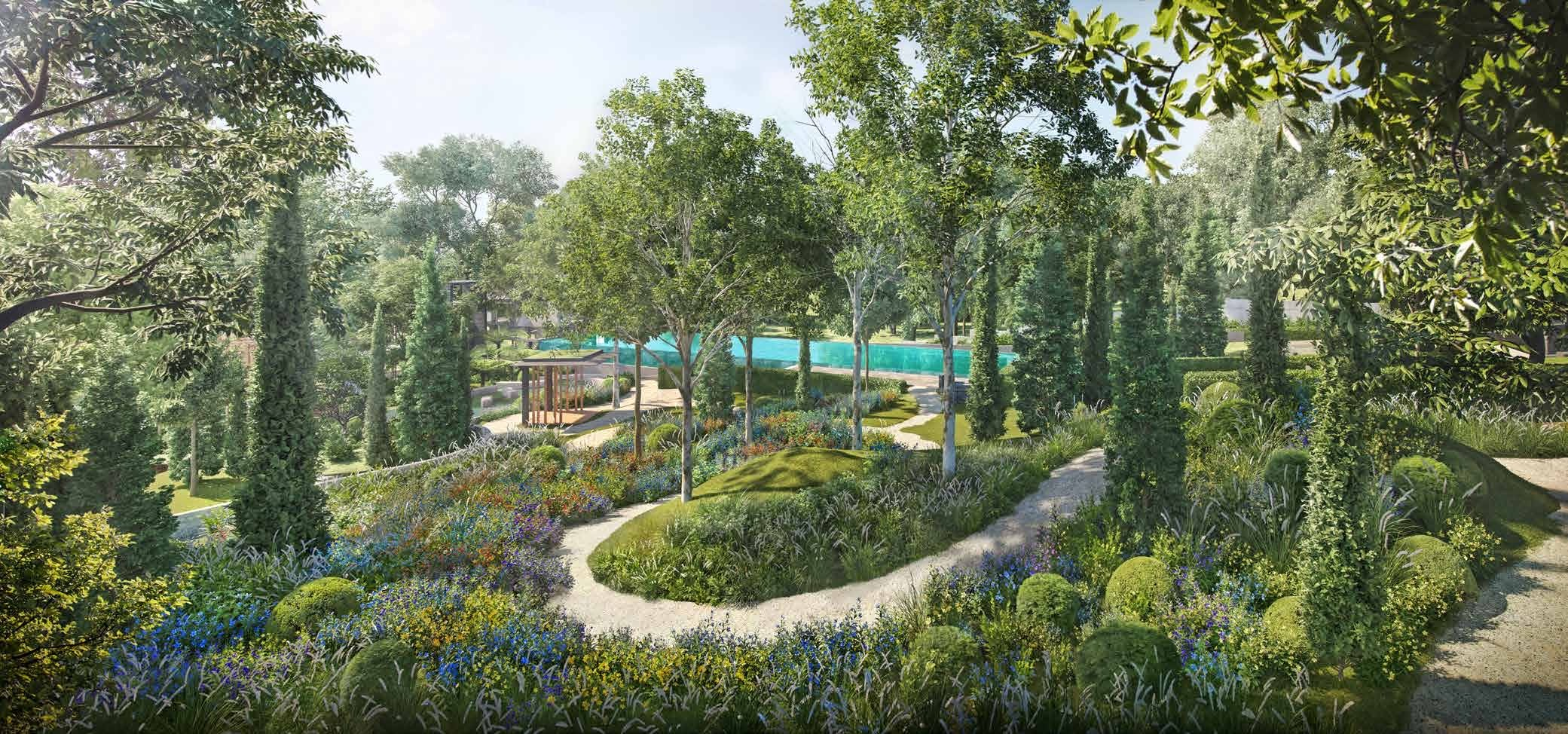 Extensive Gardens Inspired by the English Countryside