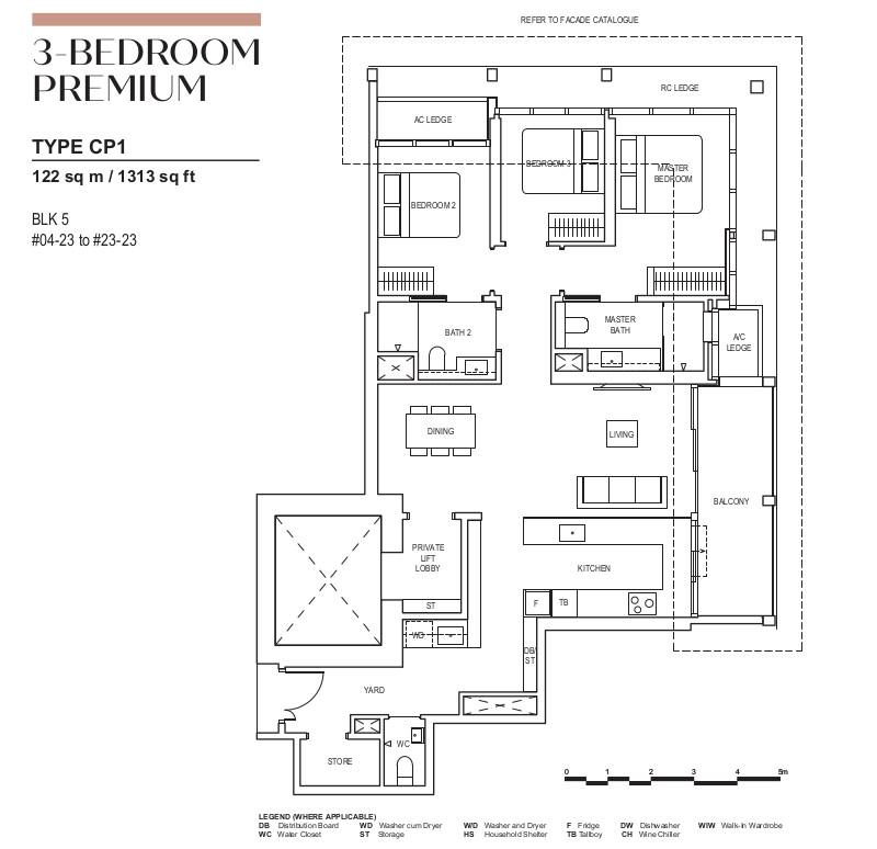 Floor Plan 3 Bedroom Premium Type CP1