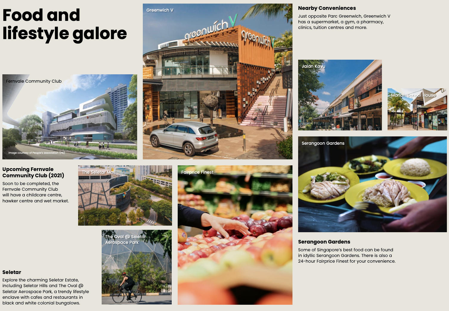 Food and LifeStyle Options in Neighbourhood