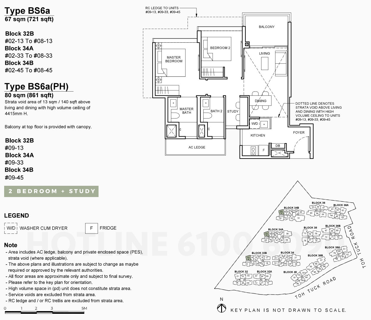 Forett Condo Floor Plan . 2 Bedroom Study Type BS6a
