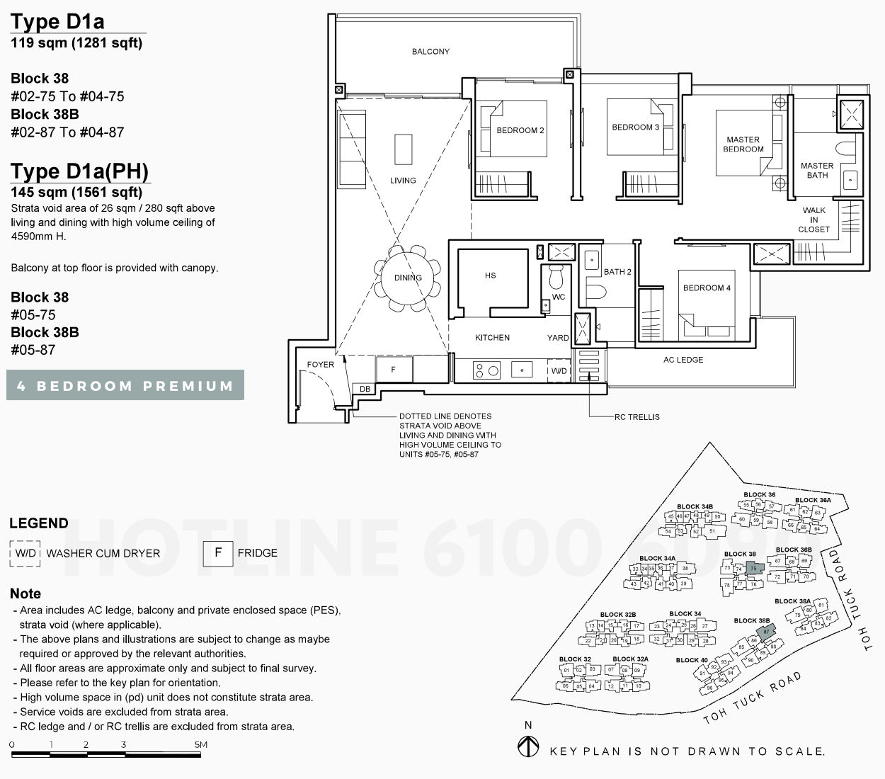 Floor Plan . 4 Bedroom Premium Type D1a