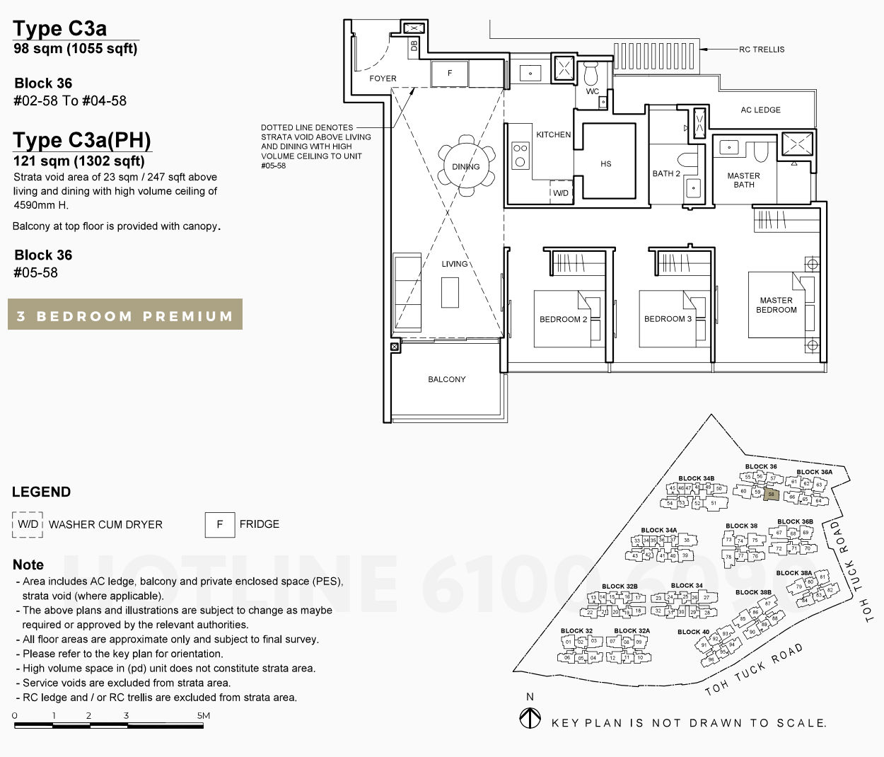 Floor Plan . 3 Bedroom Premium Type C3a
