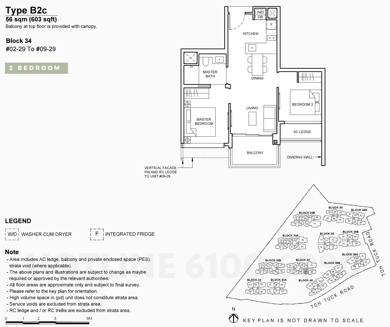 Floor Plans . 2 Bedroom Type B2c